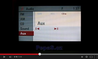 CD70 / DVD90 Navi s nefunkčním AUX vstupem