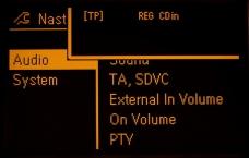 Zobrazení při aktivaci / deaktivaci testovacího módu na grafickém displeji