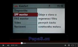 Ukázka funkce modulu MKJ (Modul Komfortní Jednotky) / CU (Comfort Unit) a displeje CID