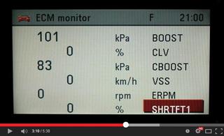 Ukázka funkce ECM monitoru motorů Z28NEH/NEL/NET vozů OPEL Vectra-C / Signum integrované v modulu MKJ (Modul Komfortní Jednotky) / CU (Comfort Unit)