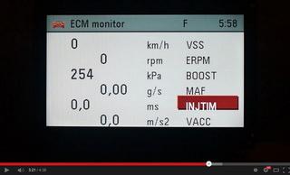 Ukázka funkce ECM monitoru motorů Z20LEH/LEL/LER vozů OPEL Astra-H / Zafira-B integrované v modulu MKJ (Modul Komfortní Jednotky) / CU (Comfort Unit)