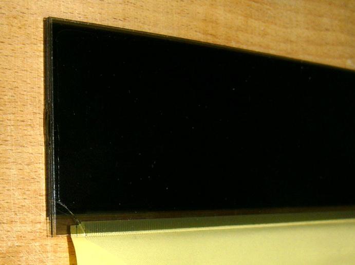 Nevratné poškození LCD displeje
