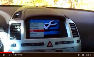 Ukázka funkce sestavy modulů MKJ (CU), VCU-01, Raspberry Pi a parkovací kamery ve voze OPEL Zafira-B